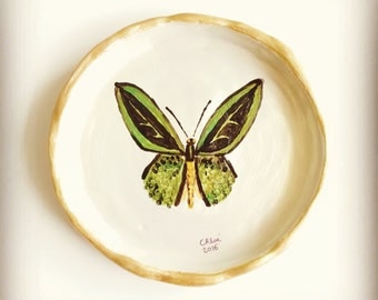 "Saucer in clay ""Butterfly"""