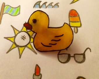 Rubber Ducky Pin Badge