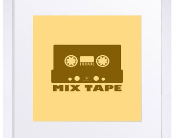 Mix Tape, minimalist poster