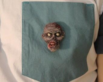 Zombie head pin