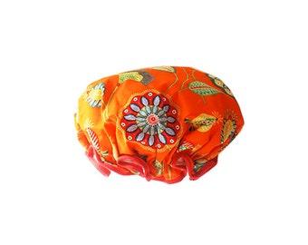 Orange Gypsy Shower Cap