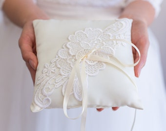Ivory Lace Ring Pillow - Handmade in the USA Ring Bearer Pillow Ring Pillow & Ring pillow   Etsy pillowsntoast.com