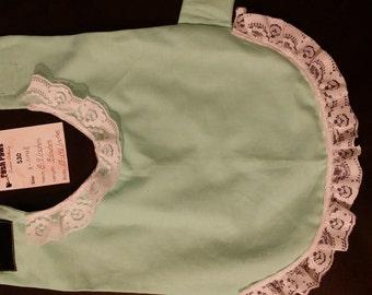 Handmade Tiffany Blue Dog Sweater w/ Lace Trim (Small)