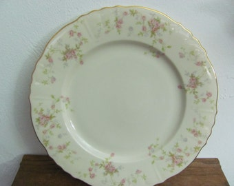"6 Hanover China Dinner Plates 10.5"" - Primrose Pattern"