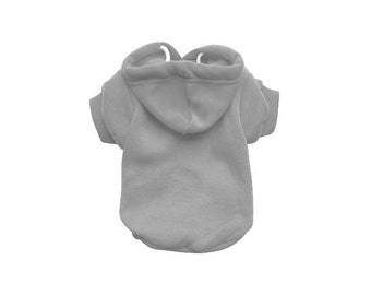 Grey Dog Hoodie - Grey Dog Sweater - Grey Dog Jumper - Dog/Puppy Clothing