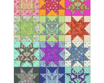 The Stars Align Quilt Kit featuring Slow & Steady by Tula Pink
