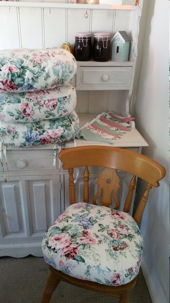 Seat cushions SHABBY CHIC Chair cushions Pads Dining set with
