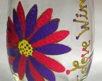 Flower wine glass