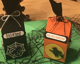 Halloween Treat Boxes Spider and Witch
