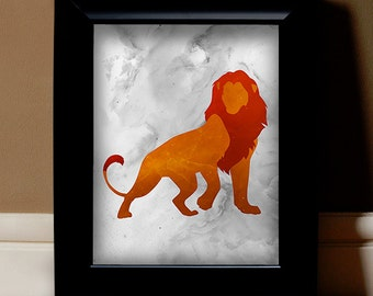 "The Lion King Digital Print - 11"" x 14"" Image File (White Background)"