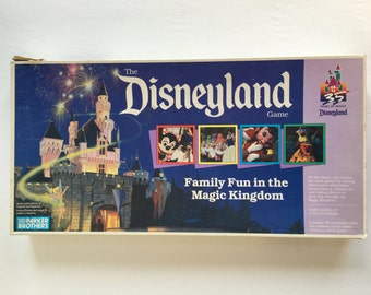 The Disneyland Game, 1990, Parker Brothers, board game, Family Fun in the Magic Kingdom