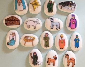 Nativity, Christmas, Story Stones, Storytelling Set