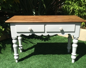 Up-cycled Grey Console Table