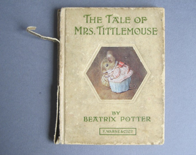 Beatrix Potter - The tale of Mrs Tittlemouse - Book 11 - Childrens bedtime story, short animal stories, small hardcover book, Kids library