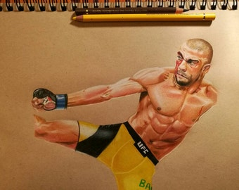 Edson Barboza drawing