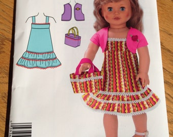 Simplicity A2108 Easy 18 Inch Doll sundress Pattern