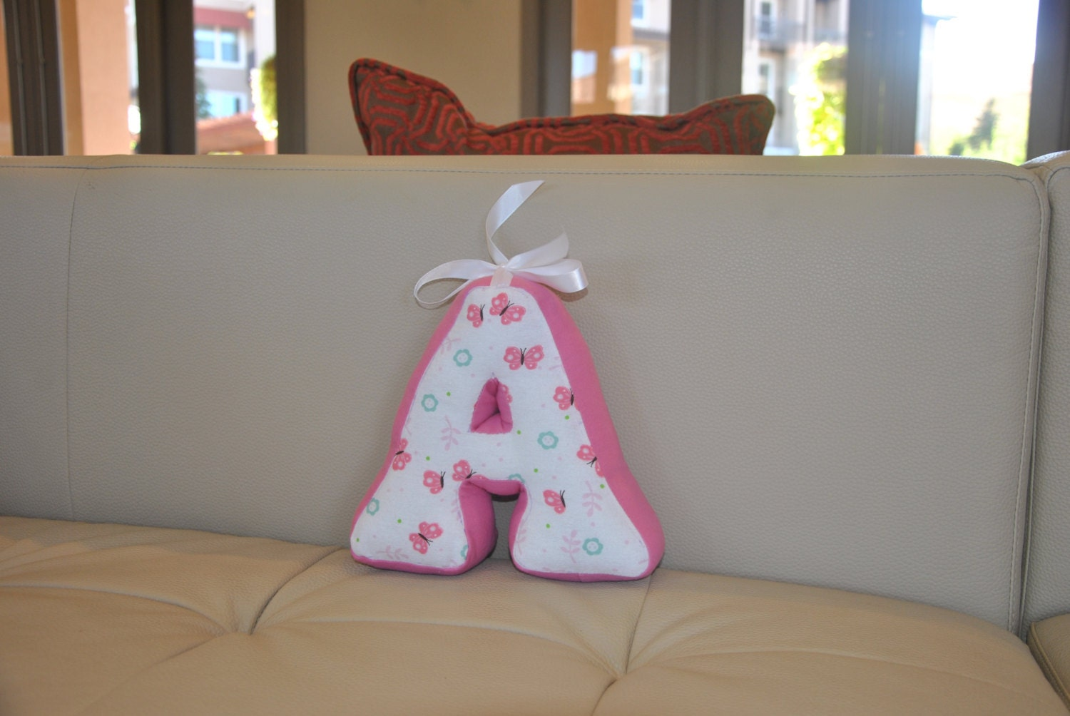 Decorative letter pillow nursery decor kids room decor for Decorative letters for kids room