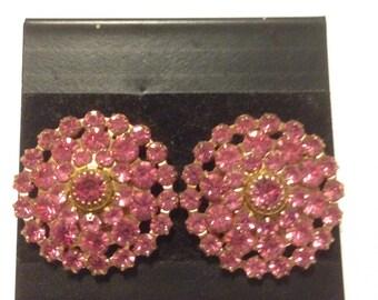 Swarovski Earrings Rose Pink