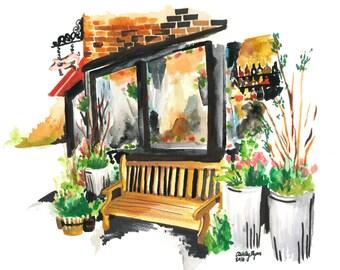 NYC West Village Watercolor -16x20