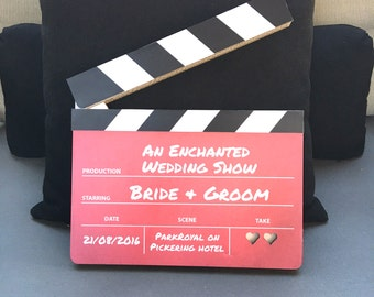 Hollywood Clapperboard, Wedding Just Married, Movie Clapper Board, Save the date invitation, Wedding invitation, Movie themed wedding