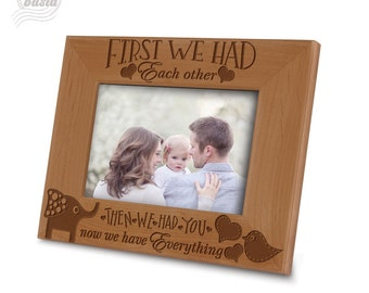 New Baby Picture Frame- Baby Room Picture Frame- Family Picture frame- Engraved Wood Picture Frame