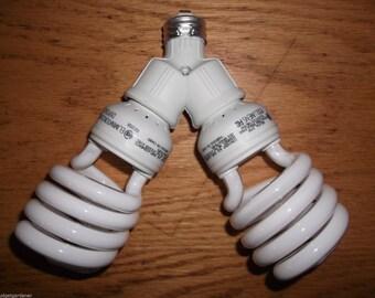 200 WATT CFL ENERGY smart grow light kit/ set- for bloom and flowering- no cord!
