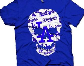 Los Angeles Dodgers 100% cotton skull tee