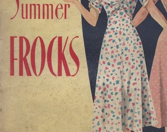 "1941 Vintage Sewing Pattern DRESS B36"" (R540) WELDONS 147723"