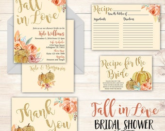Fall in Love Bridal Shower Suite, Fall in Love Invitation, Fall theme Bridal Shower, Fall Bridal Shower, Fall in Love Suite