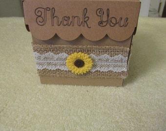 Wedding Sunflower Gift Box