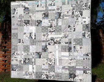 gray skies handmade lap quilt