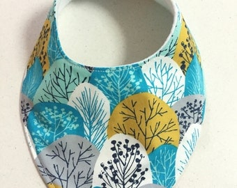 74. Baby Bandana Dribble Bibs Abstract Trees Teething Bib