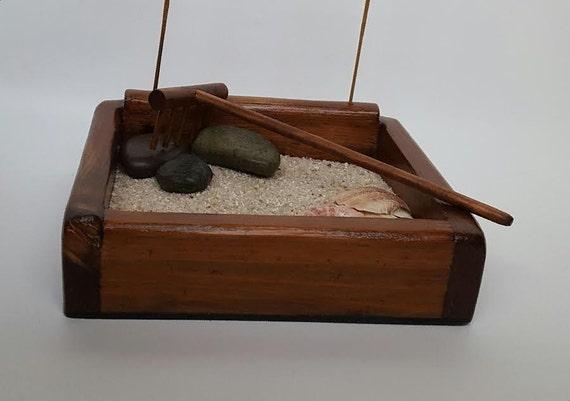 Zen Garden/ Desktop Zen Garden/ Sandbox/ Rock Garden/ Japanese Rock Garden/ Incense Holder/ Tranquility Garden/ Executive Gift