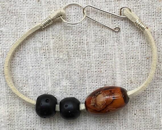 Suede bracelet, faux suede bracelet, leather bracelet, white suede bracelet, stackable bracelet, bohemian bracelet, adjustable bracelet