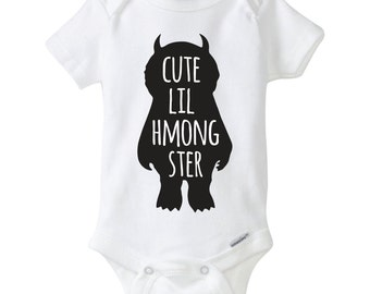 Hmong Cute Lil Hmongster Onesies Bodysuit