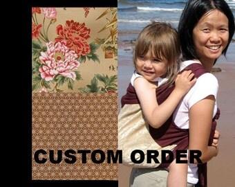 Mei Tai Baby Carrier - Custom - Black Straps