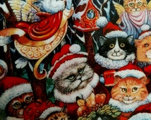 Santa Claws by Bill Bell Franklin Mint collector plate with candy stand CAT Christmas Celebration