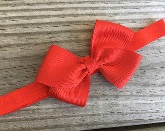 Red Headband / Red Bow /Baby Headband / Toddler Headband