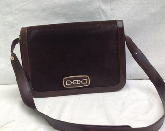 SALE 30%. Was 70. Handbag /shoulder bag vintage '70. Suede bag.