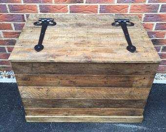 Rustic wooden storage chest