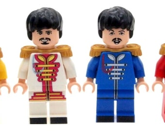 Custom Designed Minifigure - Sgt. Pepper's Lonely Hearts Club Band (The Beatles) Printed On LEGO Parts