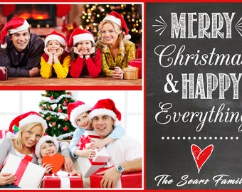 Christmas Photo Cards - PERSONALIZED! - Print from home Christmas Photo Cards. DIY Christmas Cards. HIGH quality christmas cards