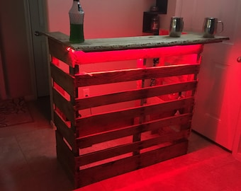 Party Pallet Bar with LED Multi-Function Lights w/ remote