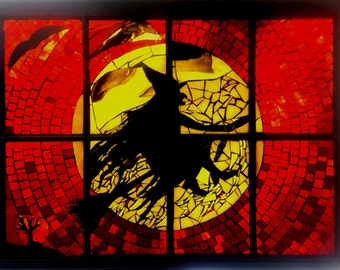 Halloween Stained Glass Mosaic Window