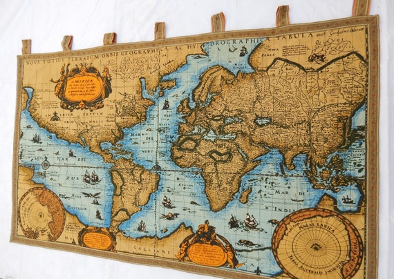 Vintage french beautiful world map english design print vintage french beautiful world map english design print tapestry 028 gumiabroncs Choice Image