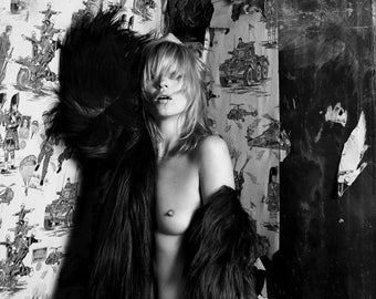 Peter Lindbergh 11x14 inches Kate Moss Awaking Fashion Portrait Matted Editorial Archive Print