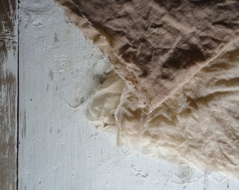 HEAVY LINEN: plant dyed crinckled linen in different colors _ vegan, organic (245 g)