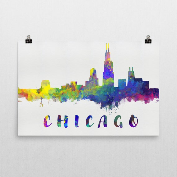 chicago skyline art - photo #25