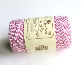 Rose Pink Bakers Twine  (Everlasto) - Multicoloured Twine, Craft twine, Christmas twine, craft twine, gift wrap twine, Pink twine