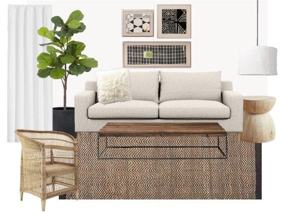 Interior Design Service Custom Living Room Digital Mood